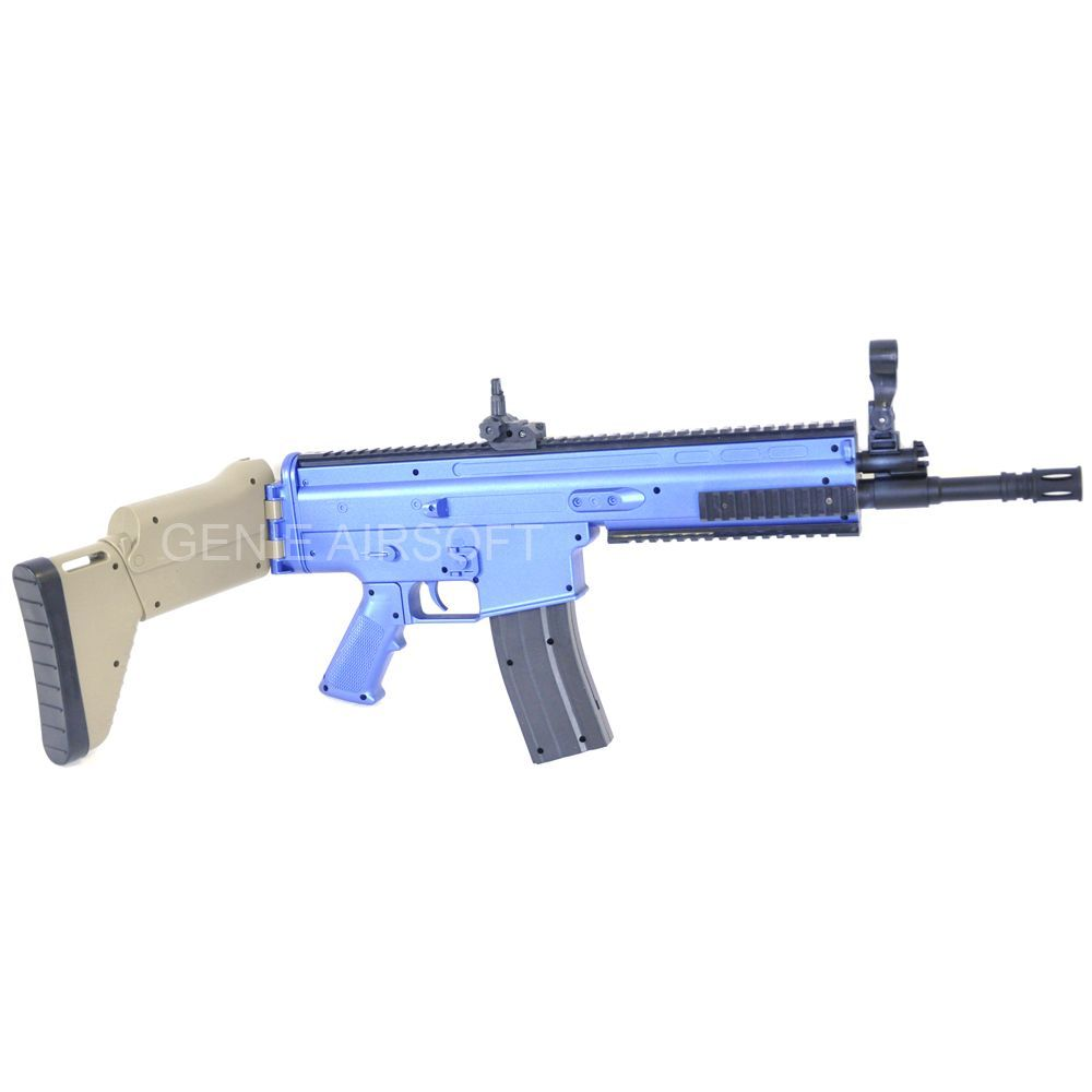 CYMA SCAR L MK16 Spring Action Budget Airsoft Rifle 2tone