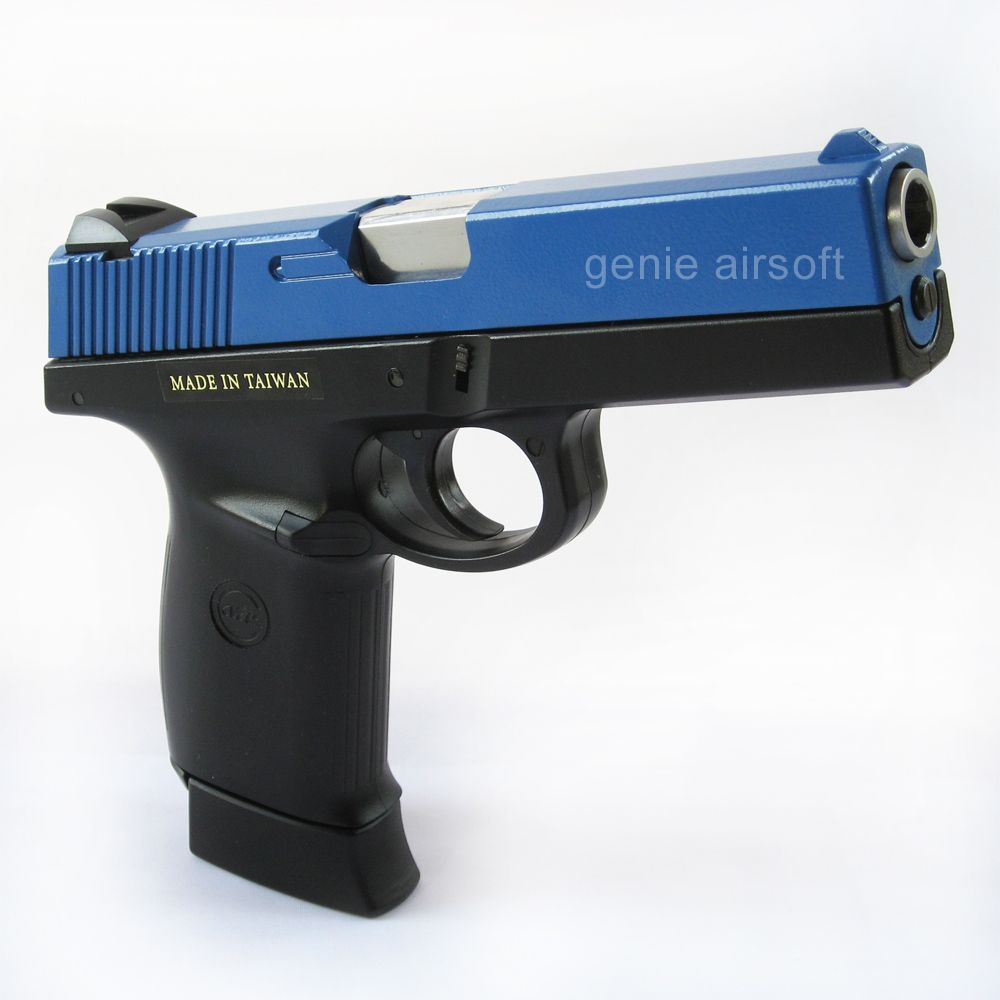 KWC SW40F Airsoft CO2 Blowback Part Metal Airsoft Pistol Blue